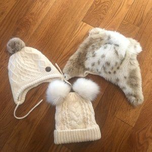 Lot of three Gap 12-24 months winter hats